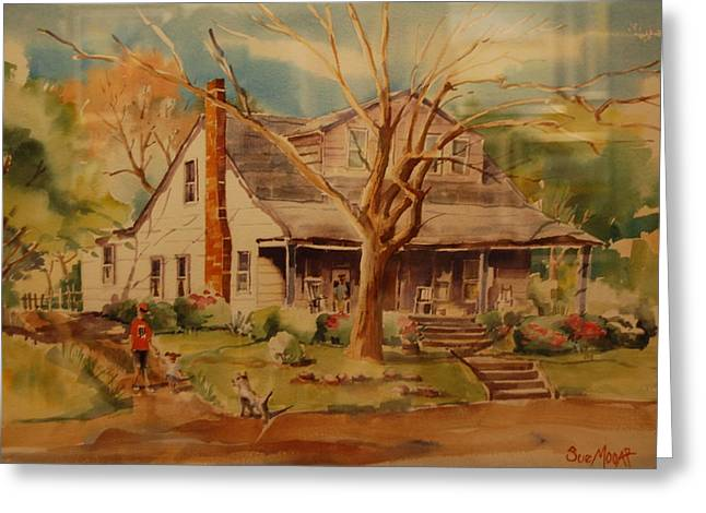 Old Home Place Greeting Cards - Old Home  Greeting Card by Lynn Beazley Blair