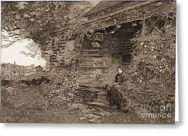 Old Homestead 1890 Greeting Card by Padre Art