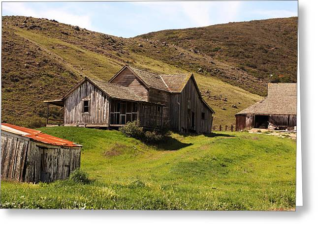 Barn Yard Greeting Cards - Old Homestead Greeting Card by Art Block Collections
