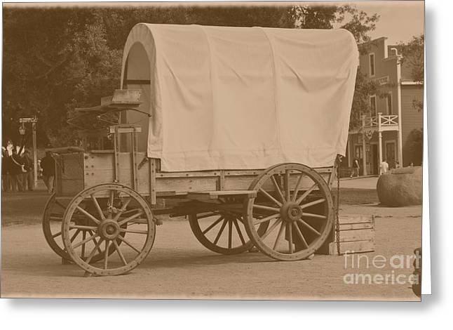 Old House Photographs Greeting Cards - Old Horse Carriage Greeting Card by Sophie Vigneault