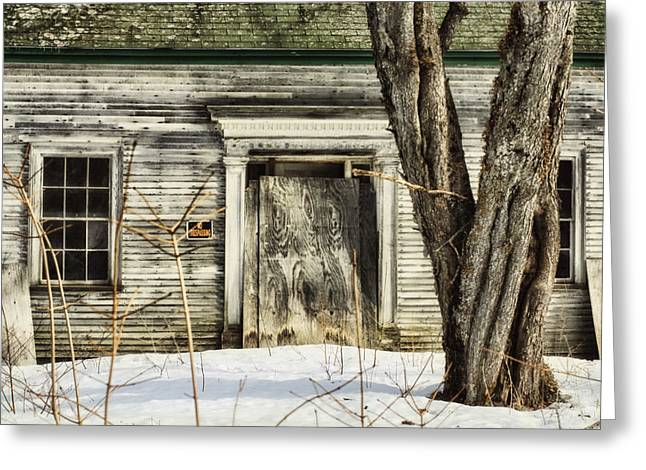 Old Maine Houses Greeting Cards - Old House By The Road Greeting Card by Susan Capuano