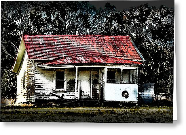 Residential Structure Greeting Cards - Old House Greeting Card by Claire Hull