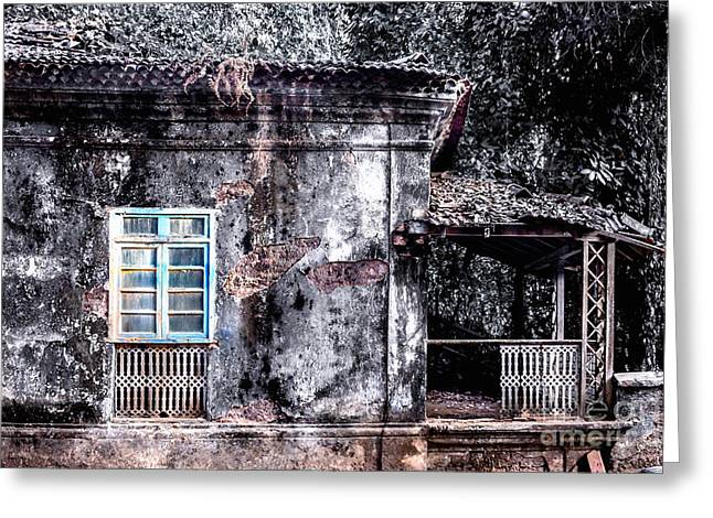 Broken Shutters Greeting Cards - Old House Goa Greeting Card by Catherine Arnas