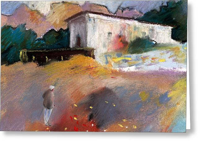Old House In Altea La Vieja 01 Greeting Card by Miki De Goodaboom