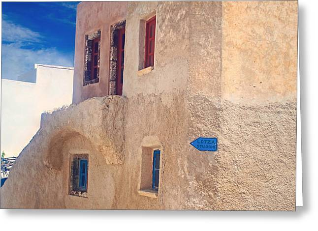 Old house in Oia  Greeting Card by Aiolos Greek Collections