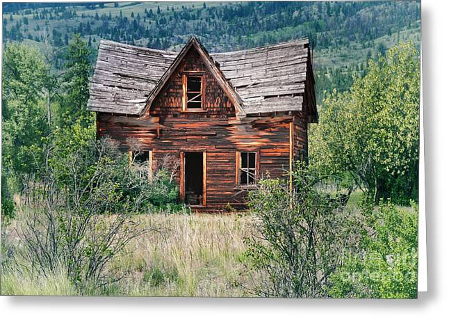 Old Cabins Greeting Cards - Old House Greeting Card by Naman Imagery