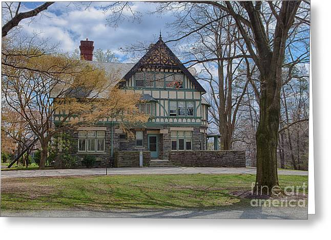 Student Housing Greeting Cards - Old House on Haverford Campus Greeting Card by Kay Pickens