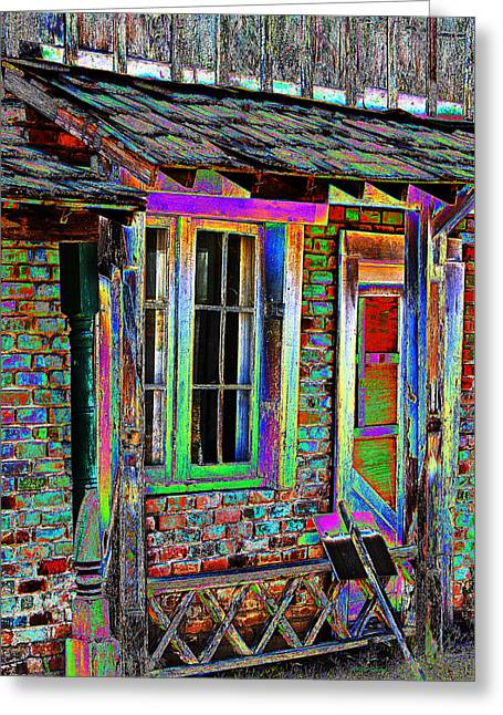 Old House Photographs Digital Greeting Cards - Old House Pop Art Greeting Card by Phyllis Denton