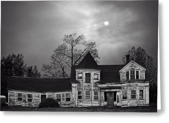 Old Maine Houses Greeting Cards - Old House - Searsport ME Greeting Card by Michael Berry