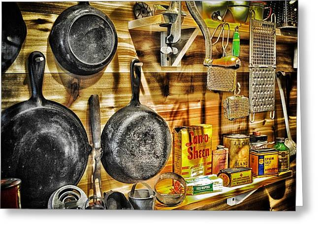 Run Down Mixed Media Greeting Cards - Old House wares 2 Greeting Card by Todd and candice Dailey