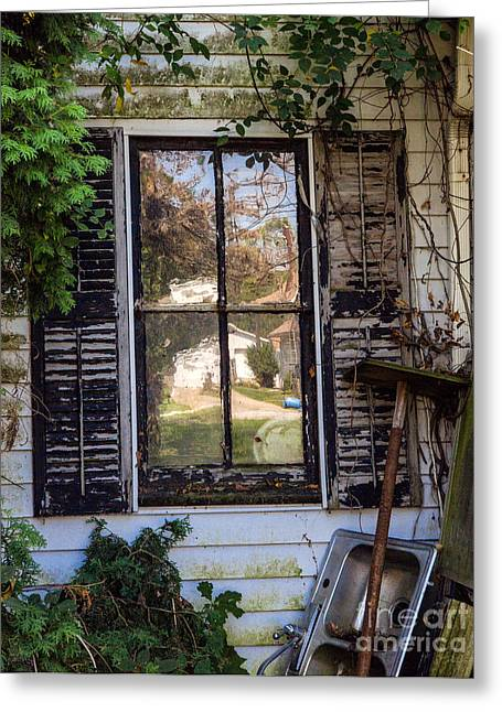 Old House Window Greeting Card by Iris Richardson