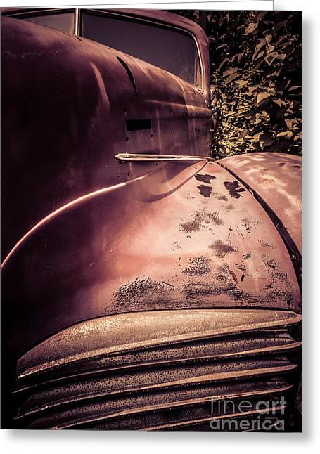 Rusted Cars Greeting Cards - Old Hudson Car Greeting Card by Edward Fielding