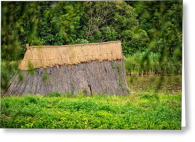 Bamboo House Greeting Cards - Old hut Greeting Card by Dobromir Dobrinov
