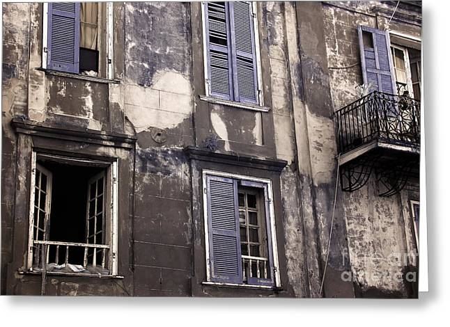 French Open Greeting Cards - Old in the French Quarter infrared Greeting Card by John Rizzuto