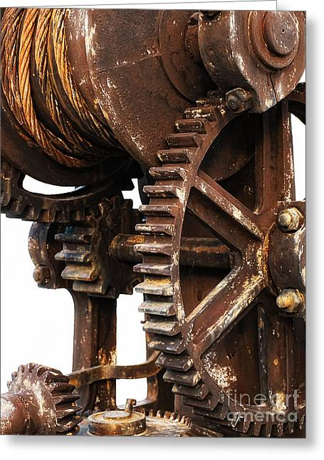 Cog Greeting Cards - Old industry Greeting Card by Sinisa Botas