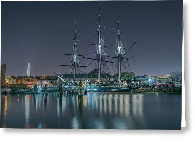 Bunker Hill Greeting Cards - Old Iron Sides Greeting Card by Bryan Xavier