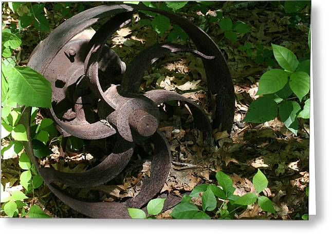 Iron Greeting Cards - Old Iron Wheel Greeting Card by Richard  Susskind