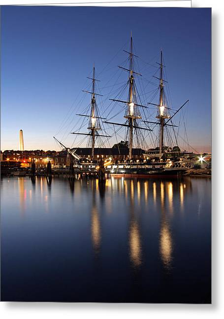Patriotic Scenes Greeting Cards - Old Ironsides Greeting Card by Juergen Roth