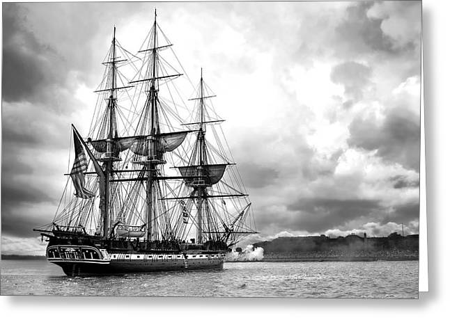Tall Ships Greeting Cards - Old Ironsides Greeting Card by Peter Chilelli
