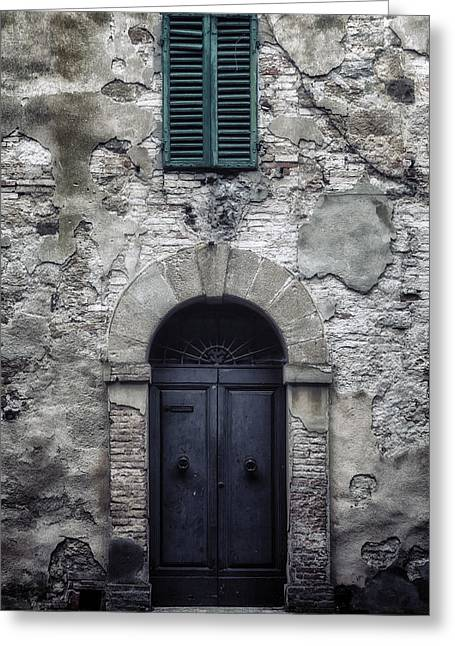 Wooden Shutters Greeting Cards - Old Italian House Greeting Card by Joana Kruse