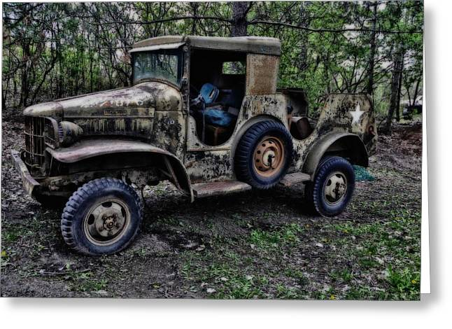 Re-enact Greeting Cards - Old Jeep 2 Greeting Card by Todd and candice Dailey