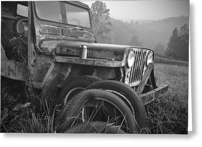 Old Jeep Greeting Card by Jerry Mann