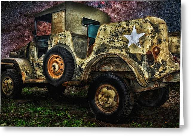 Re-enact Greeting Cards - Old Jeep Greeting Card by Todd and candice Dailey