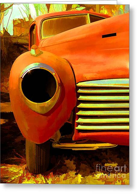 Rusted Cars Greeting Cards - Old Junker Greeting Card by Edward Fielding