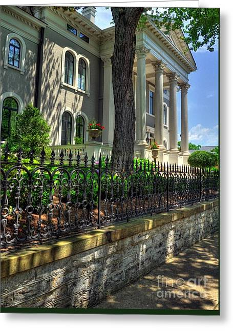 Roman Columns Greeting Cards - Old Kentucky Homes 1 Greeting Card by Mel Steinhauer