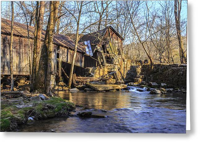 Ewing Greeting Cards - Old Kesterson Mill Greeting Card by Brandon Dean