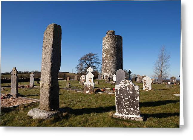 Early Christian Greeting Cards - Old Kilcullen Round Tower, County Greeting Card by Panoramic Images
