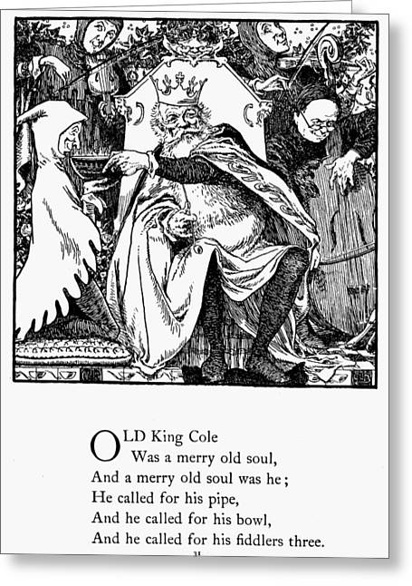 Old King Cole, 1898 Greeting Card by Granger