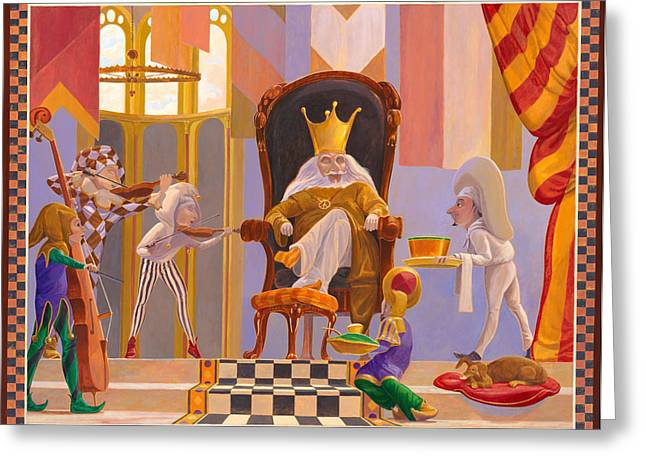 Mother Goose Greeting Cards - Old King Cole Greeting Card by Leonard Filgate