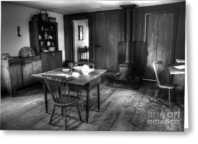 Old Kitchen Greeting Card by Kathleen Struckle