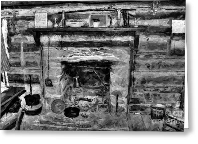 Pan Cakes Greeting Cards - Old Kitchen Greeting Card by Michael Braham