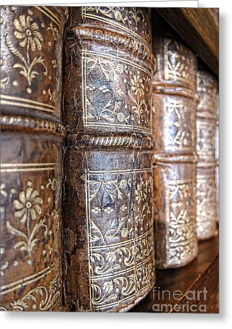 Bookcase Greeting Cards - Old Knowledge Greeting Card by Olivier Le Queinec
