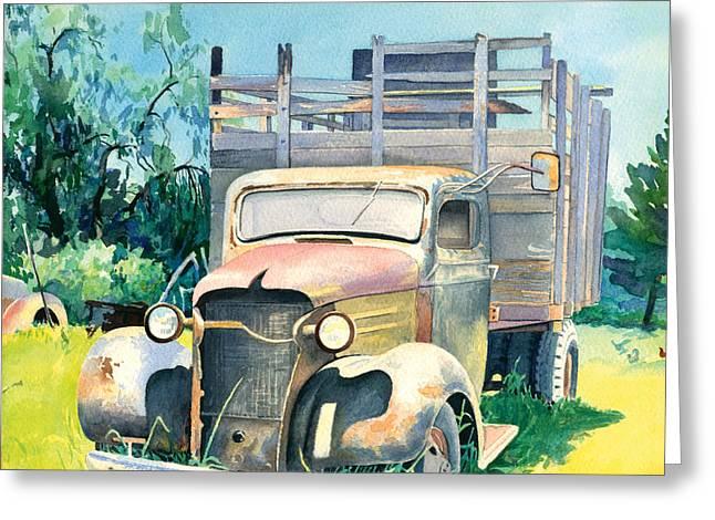 Don Jusko Greeting Cards - Old Kula Truck Greeting Card by Don Jusko