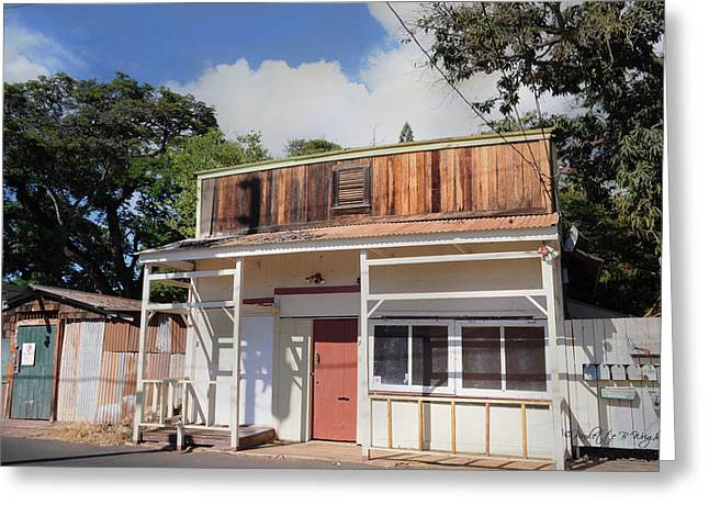 Lahaina Digital Greeting Cards - Old Lahaina Storefront Greeting Card by Paulette B Wright