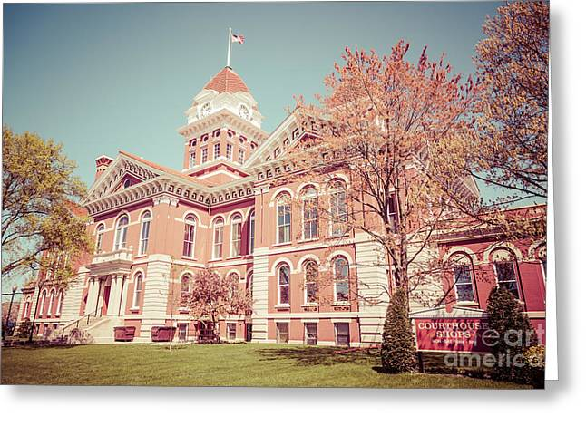 Lake County Greeting Cards - Old Lake County Courthouse Retro Photo Greeting Card by Paul Velgos