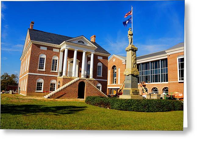 Confederate Monument Greeting Cards - Old Lancaster County Court House Greeting Card by Joseph C Hinson Photography