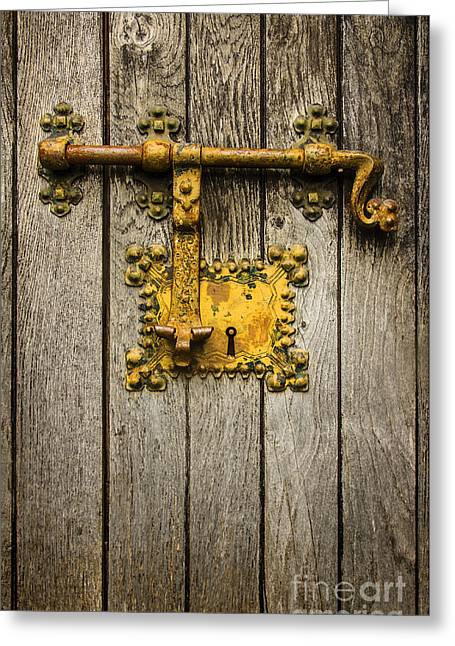 Keyhole Greeting Cards - Old Latch Greeting Card by Carlos Caetano