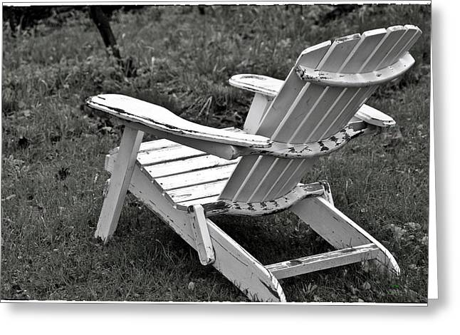 Lawn Chair Digital Greeting Cards - Vintage Lawn Chair Greeting Card by KJ DePace