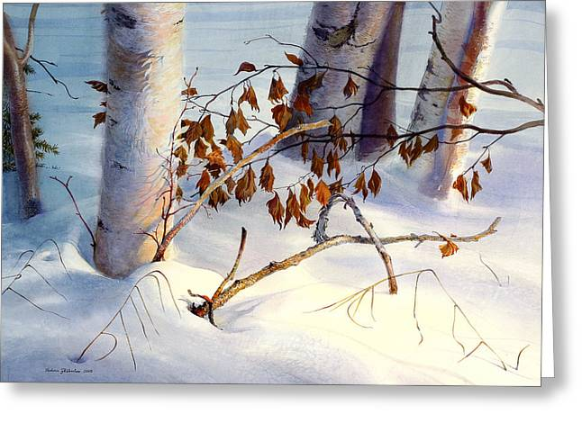 Subtle Colors Greeting Cards - Old Leaves Greeting Card by Vladimir Zhikhartsev