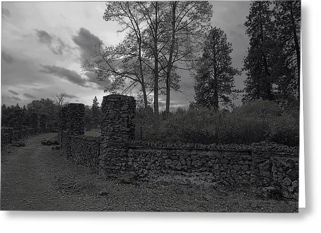 OLD LIBERTY PARK RUINS in Spokane Washington Greeting Card by Daniel Hagerman