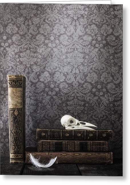 Library Greeting Cards - Old Library Greeting Card by Joana Kruse