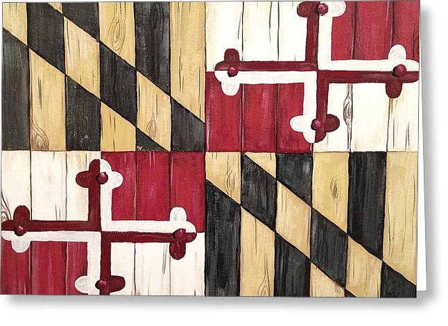 Maryland Flag Greeting Cards - Old Line State Greeting Card by Laura Parrish