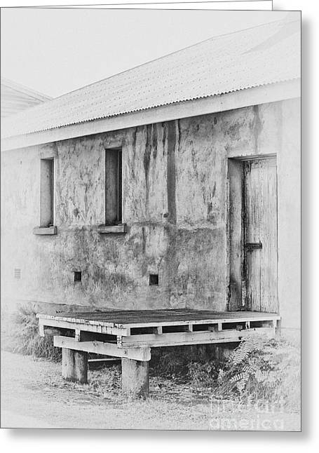 Wooden Platform Greeting Cards - Old loading dock Greeting Card by Wendy Townrow