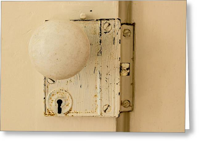 Old Lock Greeting Card by Photographic Arts And Design Studio
