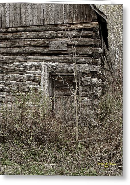 Log Cabins Framed Prints Greeting Cards - Old Log Cabin  IMG1460 Greeting Card by Dennis Ninmer