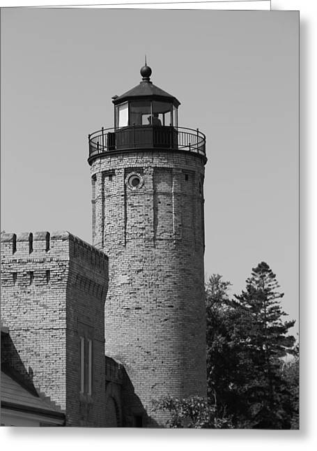 Old Structure Greeting Cards - Old Mackinac Point Lighthouse Greeting Card by Dan Sproul